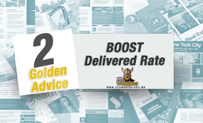 ثلاث عناصر اساسية سترفع Delivered Rate بشكل مفاجئ!